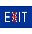 Flag of United Kingdom with word Exit vector image vector image