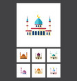 flat icon mosque set of religion islam muslim vector image vector image