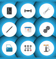 flat icon service set of automobile part vector image vector image