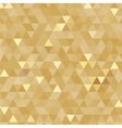 Golden triangles background vector image vector image
