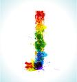 Gradient splashes font Letter J vector image