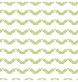 Green leaves chevron seamless pattern background vector image