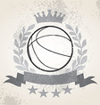 Grunge Basketball laurel weath vector image