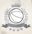 Grunge Basketball laurel weath vector image vector image