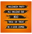 Halloween themed graffiti ribbons vector image