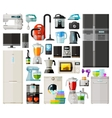 home appliances icons set set of elements vector image