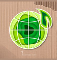 icon preserving the purity of the planet vector image