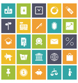 icons plain tablet business office vector image vector image