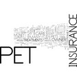 is pet insurance right for you text background vector image vector image