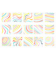 isolated on white abstract colorful waves flowing vector image vector image