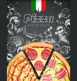 italian pizza ads or menu with rich vector image vector image