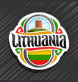 logo for lithuania vector image vector image