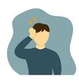man having headache in flat vector image