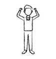 man in casual clothes standing character person vector image vector image