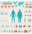 Medical icons and symbols vector image vector image