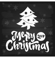 Merry Christmas greetings chalkboard vector image