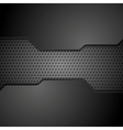 Metal perforated texture technology background vector image vector image
