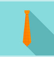 necktie icon flat style vector image vector image
