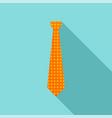 necktie icon flat style vector image