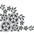 Ornament in black 05 vector image