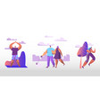 people in public city park at summer time family vector image