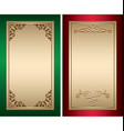red and green vintage backgrounds with gold vector image vector image
