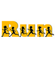 Running expression on white vector image vector image