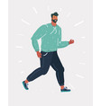 running man on white vector image vector image