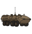 Sand wheeled troop carrier vector image vector image