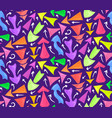 seamless neon pattern of hand drawn multicolored vector image vector image