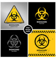 Set of biohazard symbols