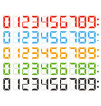 set of digital numbers led clock numbers vector image