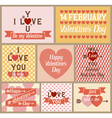 set valentines cards vector image