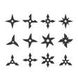 shuriken icon set vector image vector image