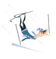 skier man isolated vector image