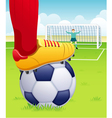 soccer player penalty kick vector image