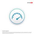 speedometer icon - white circle button vector image