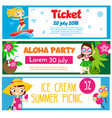 summer party banners invitations advertisements vector image