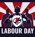 super workers labour day vector image vector image