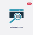 two color binary processed mobile analysis icon vector image vector image