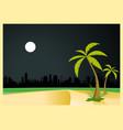 urban beach night vector image
