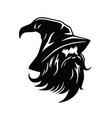 wizard logo character design vector image vector image