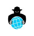 world aggressor symbol black silhouette vector image