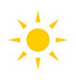 yellow sun sun icon vector image