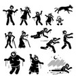 zombie family and infected stick figures vector image vector image