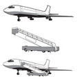 airplane is landing vector image