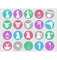 Dog grooming icons set vector image
