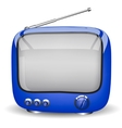 funny blue TV vector image