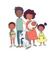 african american happy family parents vector image