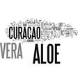 aloe vera benefits text word cloud concept vector image vector image
